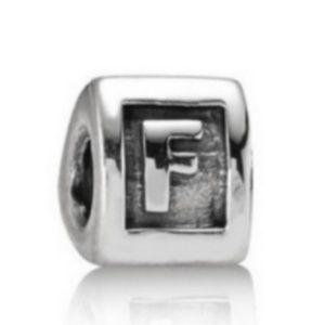 Sterling Block Letter F Charm Retired Pandora bag